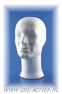 """Styropor hoofd man, zonder schouder """"luxe"""" art.21349-04"""