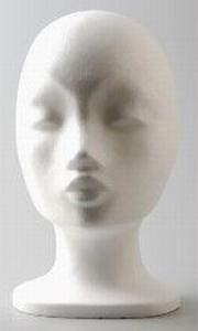 AANBIEDING Styropor hoofd vrouw korte hals 21349-01