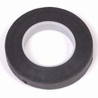 0857-01 Uni crepeband zwart 1,3 cm x 28 meter