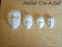Gietvorm gezichtjes 3,4,5 en 7cm Knorr Prandell 2713-050