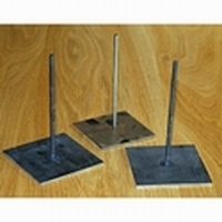 Metalen pin met voet 15cm hoog , voet 10x10cmart. PAV043A
