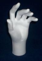 Styropor hand ongeveer 20cm (alleen linker verkrijgbaar)