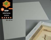 Canvas doek 3D 3,8cm Green Leafs Deep Edge340201/3030 30x30cm 3D