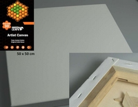 Canvas doek 3D 3,8cm Green Leafs Deep Edge 340201/5050 50x50cm 3D