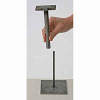 Draaiende basis om op een metalen pin te monteren