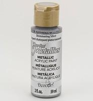 DecoArt Americana DA-070 Dazzling Metallics Shimmering Silve 59ml